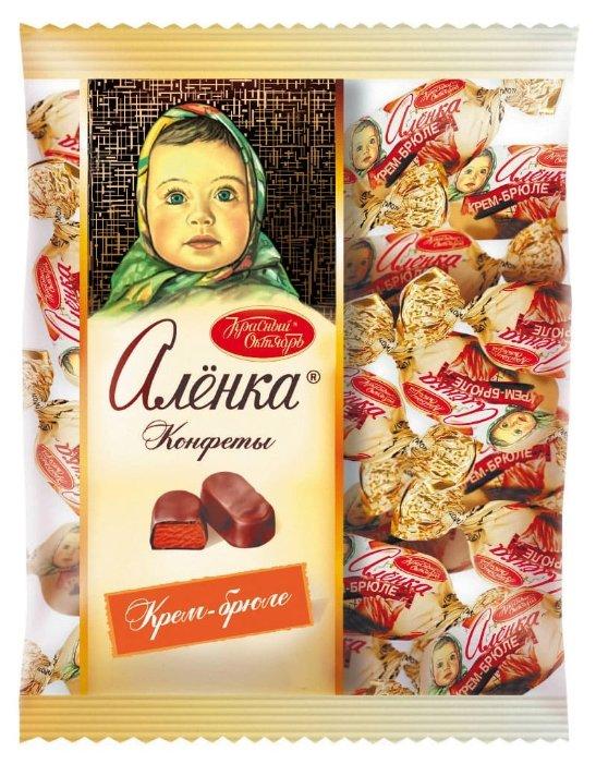 Конфеты Алёнка крем-брюле овал, пакет