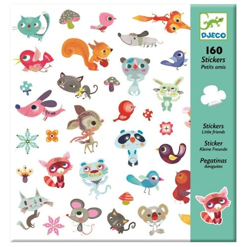 Купить DJECO Наклейки Маленькие друзья, 160 шт. (08842)