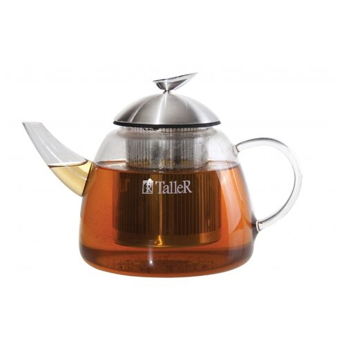 Taller Заварочный чайник Уолтер TR-1348 1,2 л, прозрачный