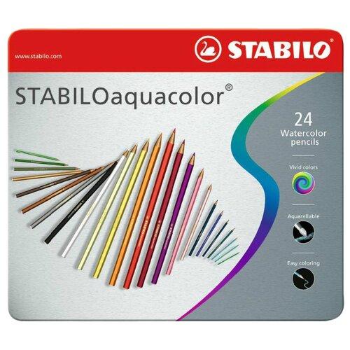 Купить STABILO Акварельные карандаши Aquacolor 24 цвета (1624-5), Цветные карандаши