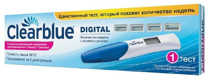 Clearblue Тест для определения беременности цифровой с индикатором срока беременности