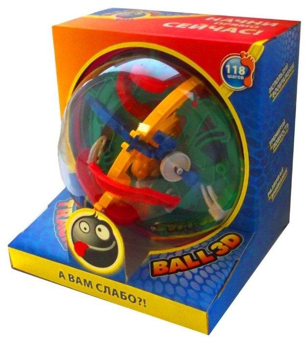 Головоломка Волшебный мир Лабиринт Track Ball 3D 118 ходов (HB047839) красный/желтый/зеленый