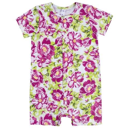 Купить Песочник playToday размер 56, белый/розовый/зеленый, Боди