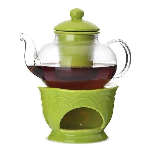 MAYER & BOCH Заварочный чайник 27563/27564/27565/27566/27567 600 мл прозрачный/зеленый mayer boch чайник электрический 1 8л 1500вт zm 10967