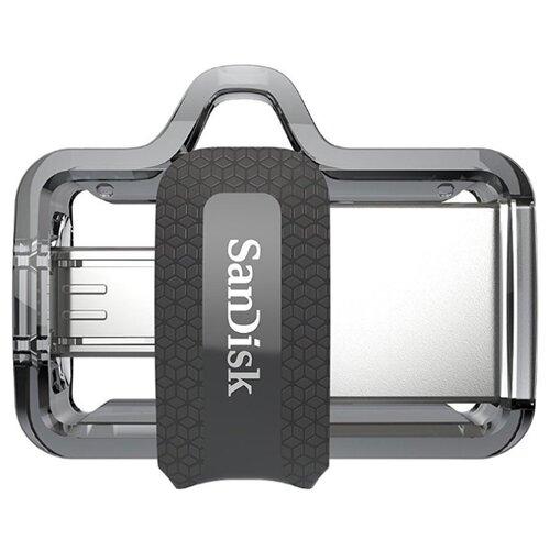 Купить Флешка SanDisk Ultra Dual Drive m3.0 128GB серый