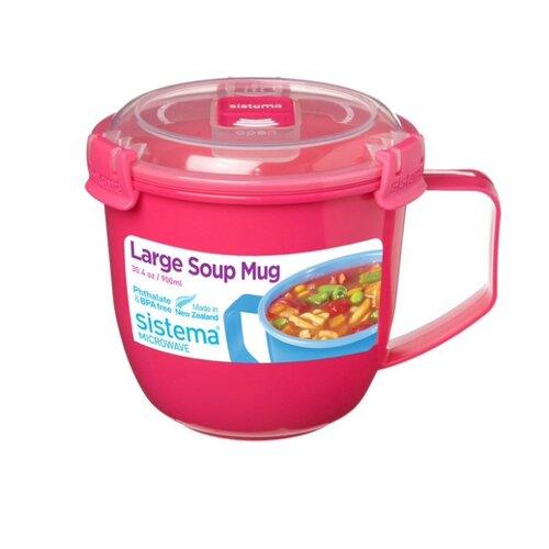 Sistema Кружка для супа Large Soup Mug Colour 21141 розовый