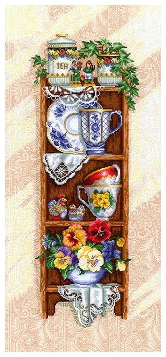 Сделай своими руками Набор для вышивания крестиком Полка с чашками 32 х 72 см (П-34)