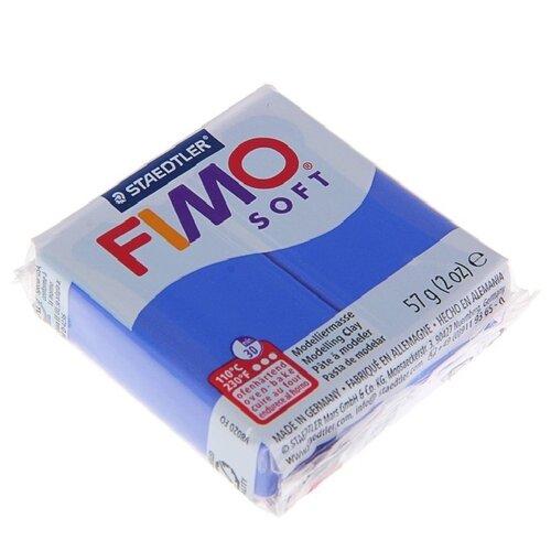 Купить Полимерная глина FIMO Soft запекаемая блестящий синий (8020-33), 57 г, Глина
