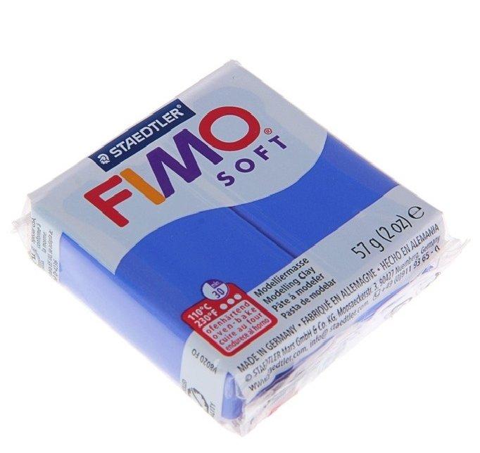 Полимерная глина FIMO Soft запекаемая блестящий синий (8020-33), 57 г