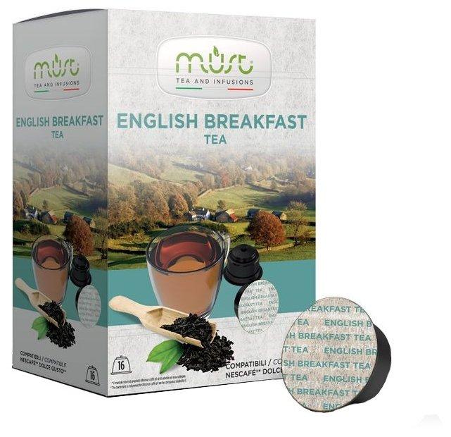 Чай в капсулах MUST English Breakfast (16 шт.)