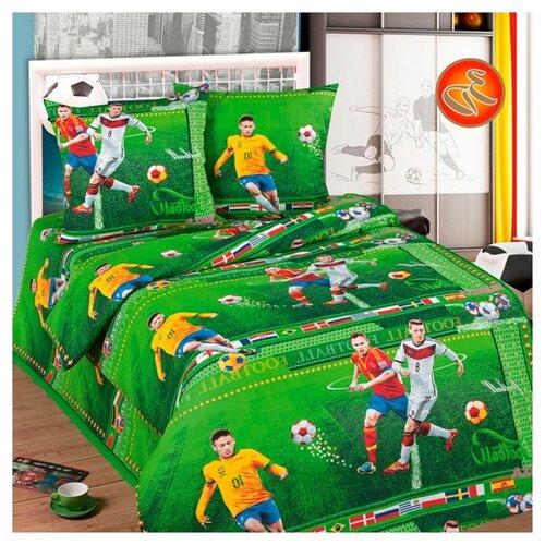 Постельное белье 1.5-спальное Традиция Дай поспать 3825 Форвард бязь, 70 х 70 см зеленый