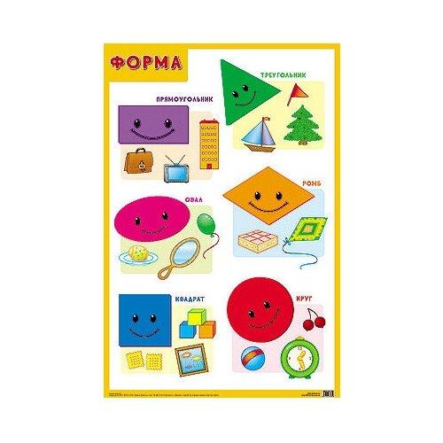 Купить Плакат Мозаика-Синтез Форма, Обучающие плакаты