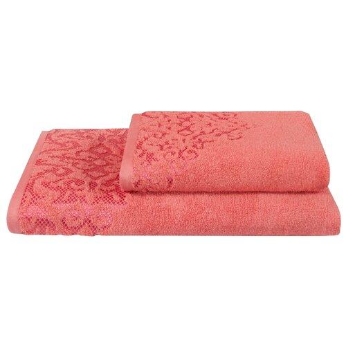 Guten Morgen полотенце Пейсли банное 70х130 см коралл
