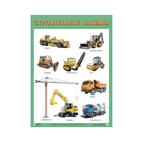 Купить Плакат Мозаика-Синтез Строительные машины, Обучающие плакаты