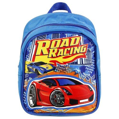 Купить Играем вместе Дошкольный рюкзак Гонки малый (SBP18-DRIVE) синий, Рюкзаки, ранцы