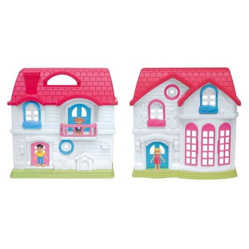 Купить EstaBella кукольный домик Солнечный городок, ул.Цветочная, дом 2 65767, белый/розовый/голубой, Кукольные домики