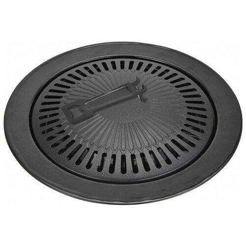 Сковорода-гриль Vitesse VS-2383 33 см, съемная ручка, черный