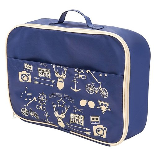 HOMSU Органайзер для одежды Hipster Style Premium синий органайзер для хранения обуви hipster style 6 секций 66 х 63 х 11 см