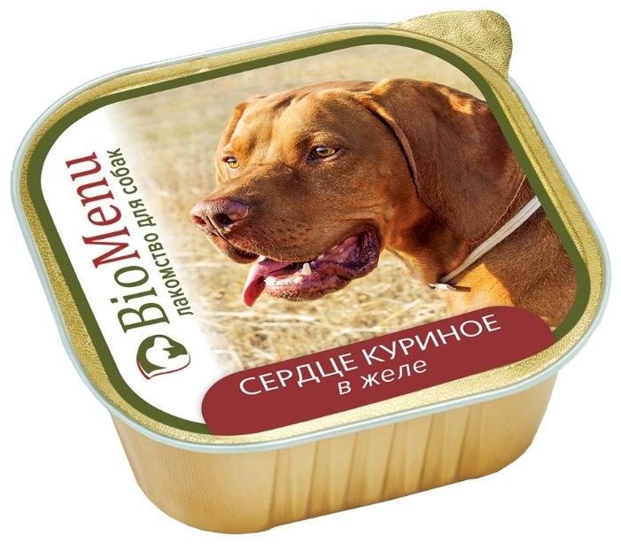 Корм для собак BioMenu (0.15 кг) 1 шт. Adult консервы для собак сердце куриное в желе