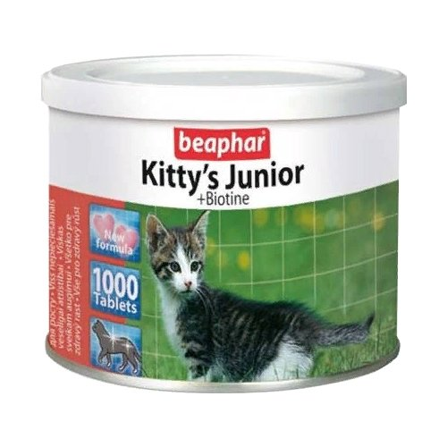 Добавка в корм Beaphar Kittys Junior + Biotine 1000 шт.Витамины и добавки для кошек и собак<br>