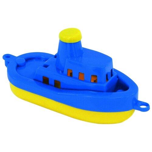 Купить Корабль Нордпласт 008 17.5 см желтый/синий, Машинки и техника