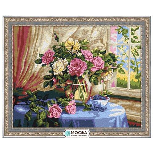 Мосфа Картина по номерам Розы у окна 40х50 см (7С-0105)Картины по номерам и контурам<br>