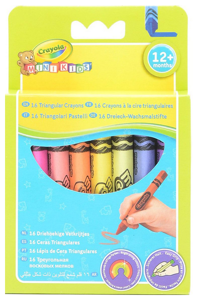Crayola Восковые мелки смываемые для малышей 16 цветов 52-016T