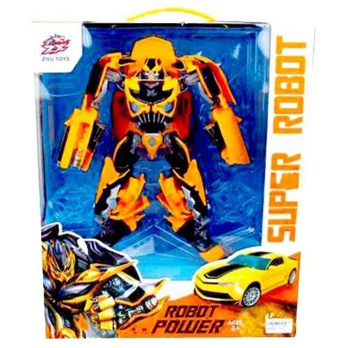 Робот-трансформер Ziyu Toys Робот-машина L015-28 желто-черный, Роботы и трансформеры  - купить со скидкой