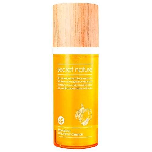 Secret Nature гидрофильное масло-пенка для умывания с экстрактом мандарина, 100 мл японское гидрофильное масло для умывания