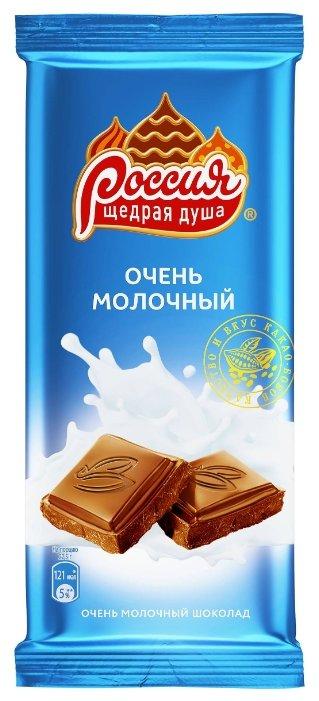 Шоколад Россия - Щедрая душа! молочный