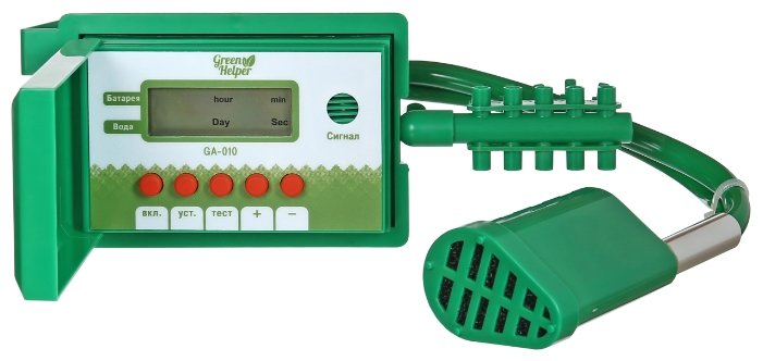 Green Helper Набор капельного полива автоматический GA-010, длина шланга:10 м, с таймером, кол-во растений: 10 шт.