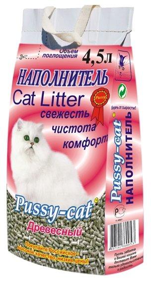 Впитывающий наполнитель Pussy-Cat Древесный 4.5 л