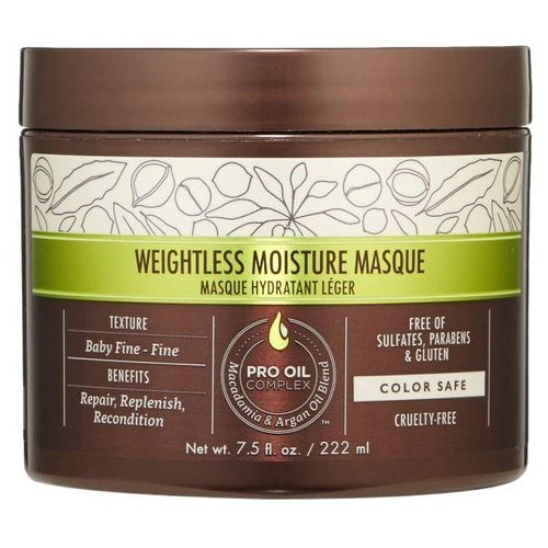 Фото - Macadamia Weightless Moisture Увлажняющая маска для волос, 222 мл medius двойная маска увлажняющая moisture focus 25 мл