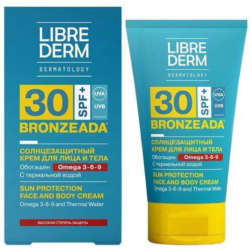 Librederm Bronzeada солнцезащитный крем для лица и тела Omega 3-6-9 SPF 30 150 млЗащита от солнца<br>