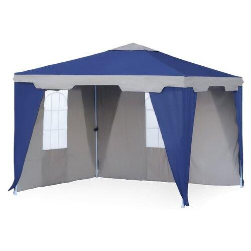 Фото - Шатер Green Glade 1031, со стенками, 3 х 3 х 2.5 м синий / белый шатер green glade 1003 со стенками и москитной сеткой белый зеленый