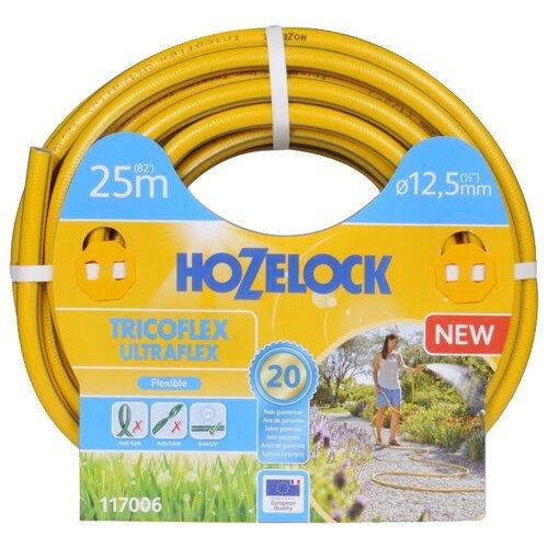 Шланг HOZELOCK Tricoflex Ultraflex 1/2 25 метров желтыйШланги и комплекты для полива<br>