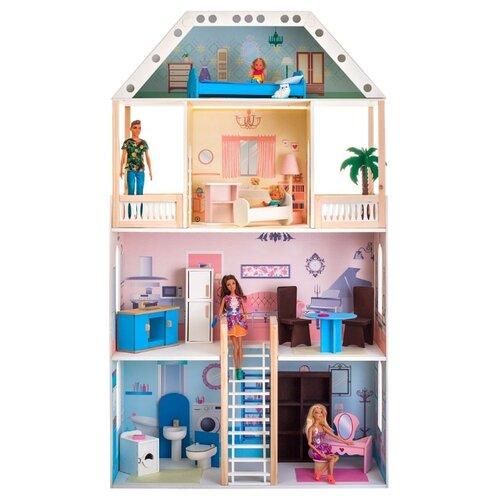 paremo кукольный домик эмилия романья с мебелью pd318 04 розовый голубой PAREMO Поместье Риверсайд (с мебелью) PD318-02, белый/розовый/голубой