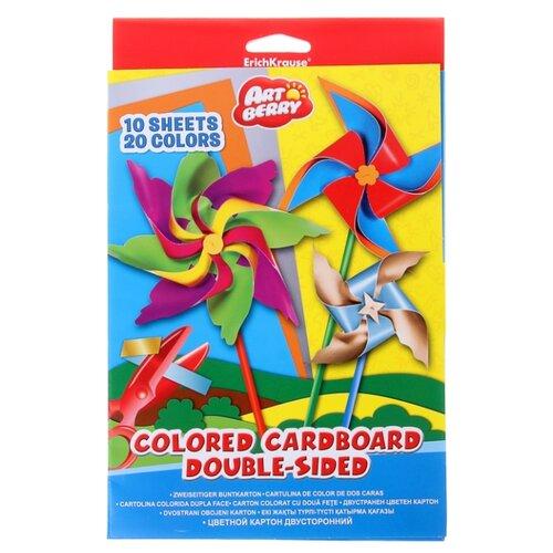 Купить Цветной картон ArtBerry, B5, 10 л., 20 цв., Цветная бумага и картон