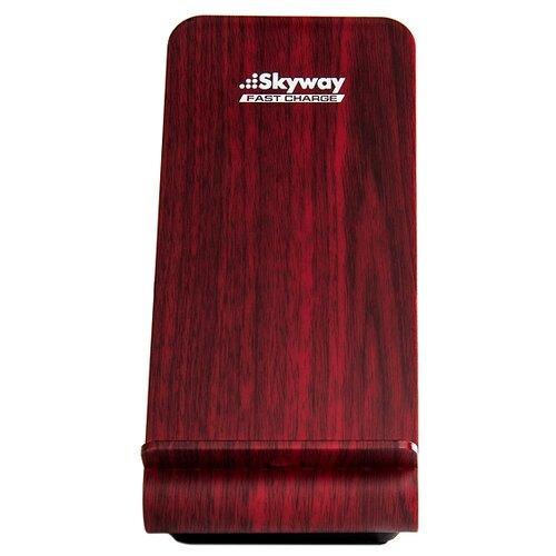 Беспроводная сетевая зарядка Skyway Energy Fast темное дерево.