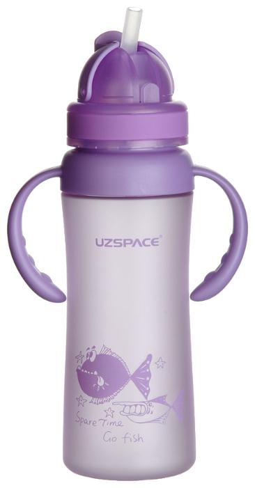 Поильник с трубочкой UZSPACE Go Fish Bottle 3041, 350 мл