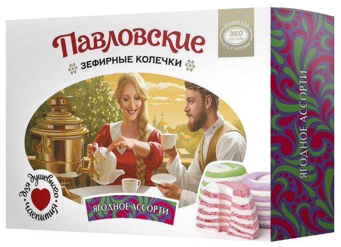 Зефир «Павловские зефирные колечки со вкусом ягодного ассорти», Эко пастила, 140г