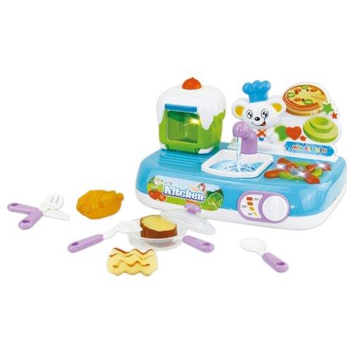 Купить Кухня Kitchen ABC-397654 голубой/розовый/белый/зеленый, Детские кухни и бытовая техника