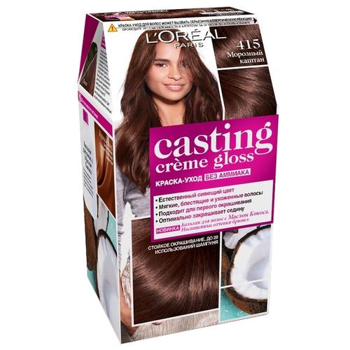 Купить L'Oreal Paris Casting Creme Gloss стойкая краска-уход для волос, 415, Морозный каштан