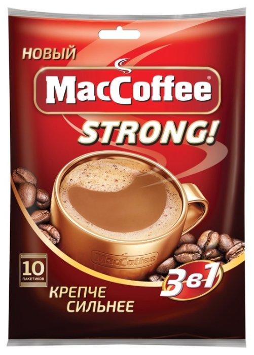 Растворимый кофе MacCoffee Strong 3 в 1, в пакетиках