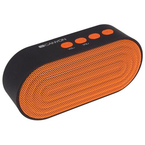Портативная акустика Canyon CNS-CBTSP3 черный/оранжевый кабель canyon cne usbm1b microusb черный
