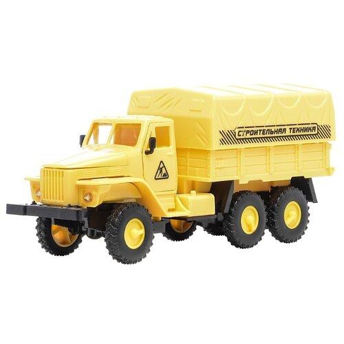 Купить Грузовик ABtoys тентованный Урал (M7711-2D) 15 см желтый, Машинки и техника