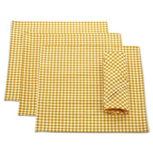 Салфетка Kauffort Kimberly 32х32 см желтая клетка