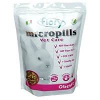 Корм для карликовых кроликов Fiory Micropills Vet Care Obesity, 910 г, травы, размер 0.255x0.16x0.08см.