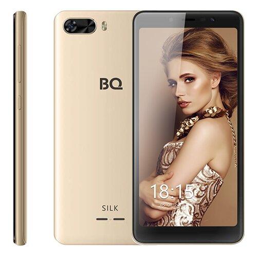 Смартфон BQ 5520L Silk золотой смартфон