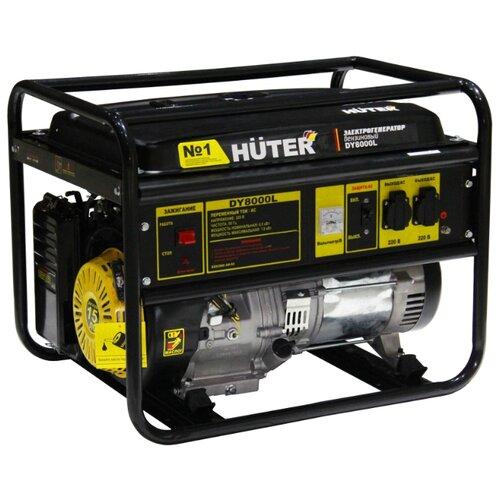 Бензиновый генератор Huter DY8000L (6500 Вт) генератор huter dy2500l